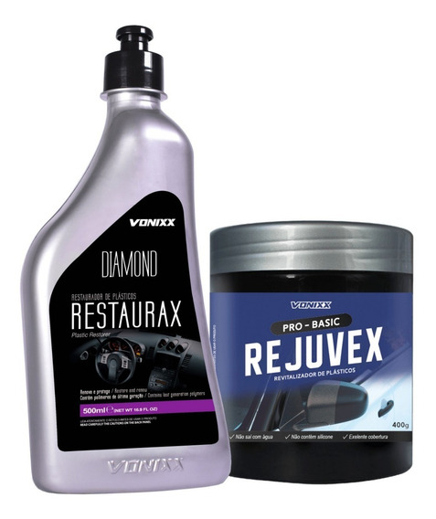 Kit Restaurador De Plásticos - Restaurax + Rejuvex - Vonixx