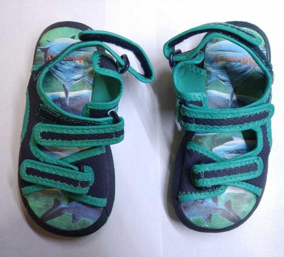 Sandalias Nene Old Navy Verde Y Azul Talle 24(8 Usa) Nuevas