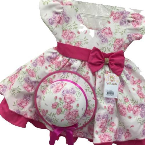 Vestido Infantil Bebê Menina Daminha Batizado Frete Grátis