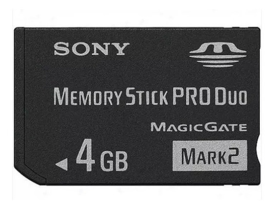 Cartão Memory Stick Pro Duo Original 4gb