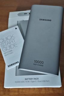 Bateria Portátil 10000 Mah Com Cabo Usb C - Original Samsung