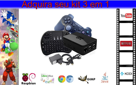 Mini Pc 3 Em 1 Escritório Game Retro Central Multimidia