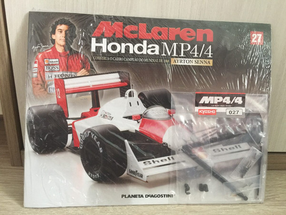 Miniatura Fascículo 27 Mclaren Honda Mp4/4 - Ayrton Senna