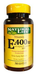 Natural Life Vitamina E 400 Iu X 30 Comprimidos