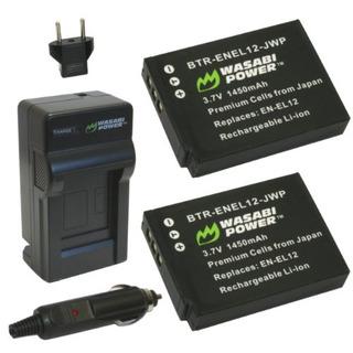Batería Wasabi Power 2 U. + Cargador P/nikon En-el12/coolpix