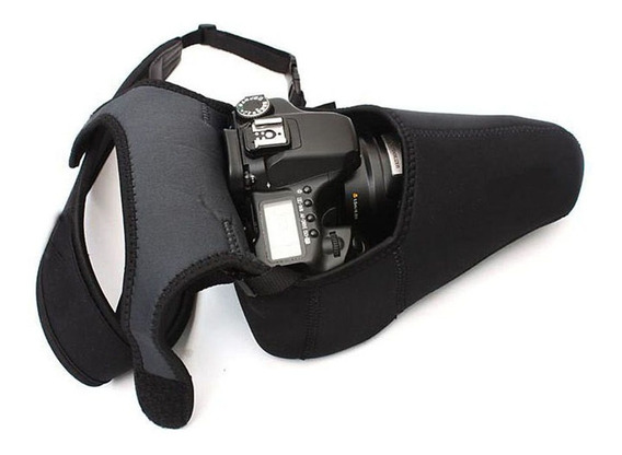 Bolsa Case Protetora Impermeavel Neoprene Canon Nikon Sony