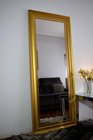 Espelho Grande Com Moldura Dourada 1,70 X 0,70