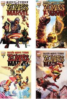 Zumbis Marvel - Coleção Marvel Terror - Ed. 1-4 - Frete Grat