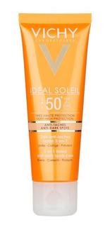 Vichy Idéal Soleil Fps50 Cuidado Antimanchas 3 En 1 Con Color Unifica El Tono Protector Solar