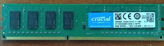 Memoria Crucial Ddr3l 8gb 1600 Mhz Oem Intel / Amd