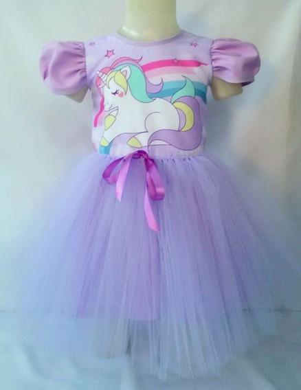Vestido Infantil Unicórnio Fantasia Unicórnio Bailarina