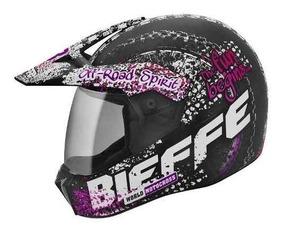 Lançamento Capacete Feminino Bieffe 3 Sport Dirt Rosa Cross