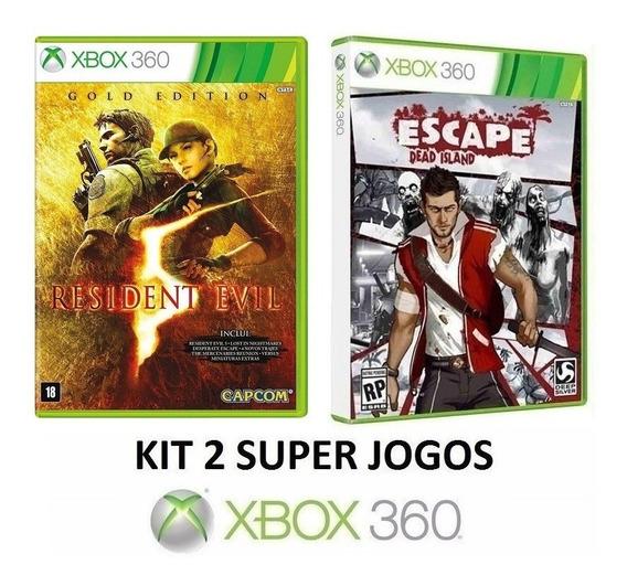 Resident Evil 5 + Escape Dead Island - Midia Fisica Xbox 360