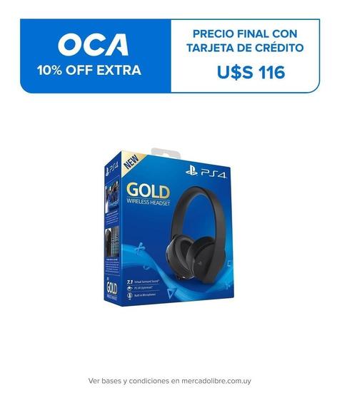 Auriculares Ps4 Playstation 4 New Gold Inalámbricos Nuevo