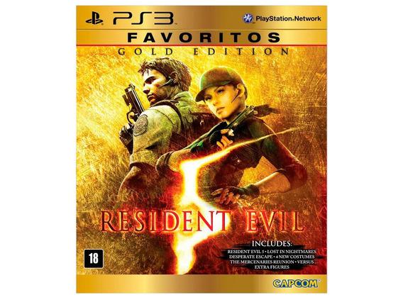 Jogo Digital Resident Evil 5 Gold Edition Ps3 Psn Envio Ja