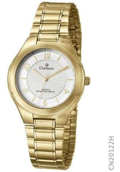 Relógio Champion Feminino Analógico Dourado Cn20122h