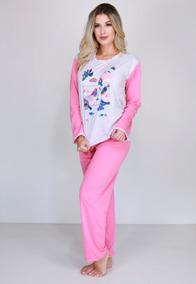 ba3f58119dec21 Pijama Feminino Algodao - Roupa de Dormir Pijamas para Feminino Rosa ...