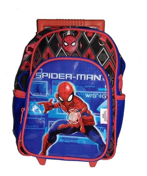 Mochila Bolsa Rodinhas Escolar Infantil Homem Aranha