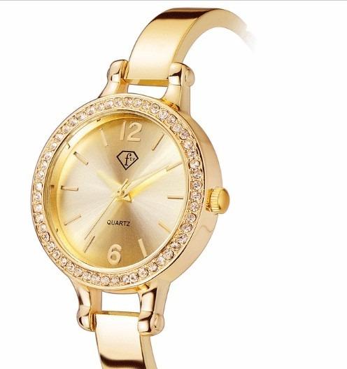 Relogio Feminino Quartz Relógio De Pulso Luxury Pulsera Ouro