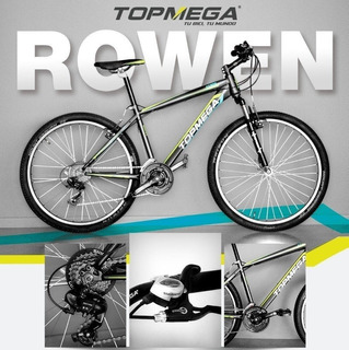 Bicicleta Mountain Bike Acero Top Mega Rowen Rodado 26