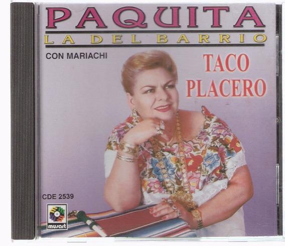 Cd Paquita La Del Barrio - Com Mariachi Taco Placero (mexico