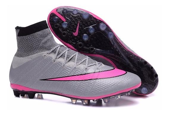 Chuteira Nike Ag Grama Artificial Society Botinha 2016