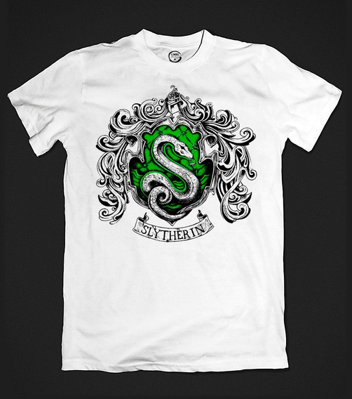 Camiseta Sonserina Slytherin - Harry Potter