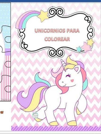 Editable Para Colorear Unicornios