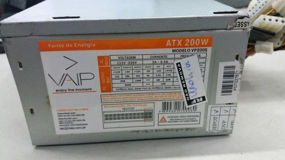 Fonte Atx Padrão 24 Pinos Vaip Modelo:vp200s