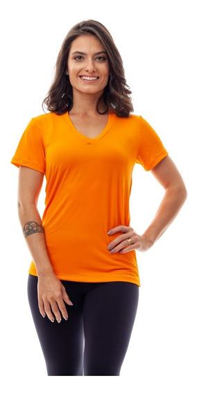 Kit 5 Camisetas Baby Look Dry Fit 100% Poliamida Fitness