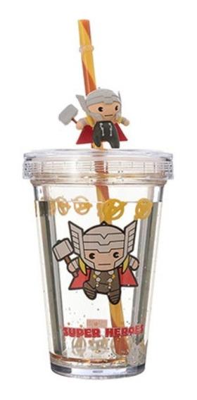 Copo Com Canudo Miniso - Thor