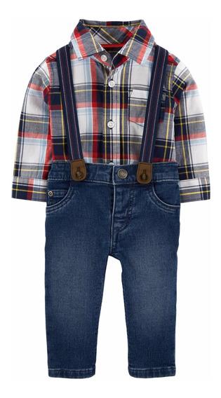 Conjunto Jeans Camisa Tirantes Bebé Carters
