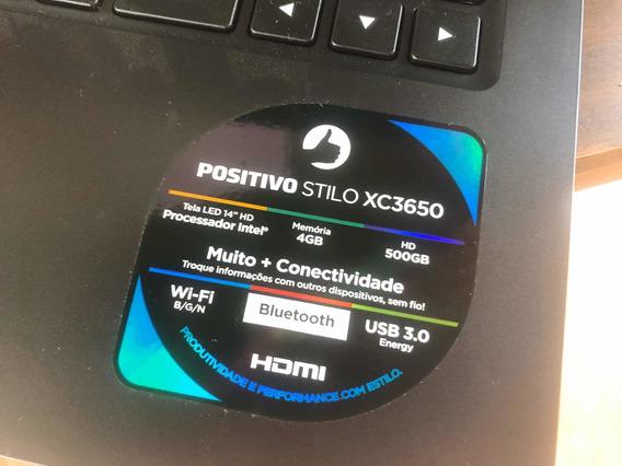 Notebook Positivo Stilo Xc3650 500gb 4gb Windows 10