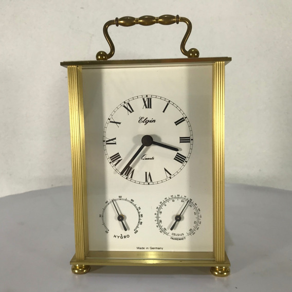 Hermoso Reloj Elgin Higro Therm Germany Quartz 100% Original