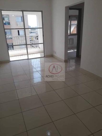 Apartamento Com 2 Dormitórios Para Alugar, 80 M² Por R$ 2.300/mês - Ponta Da Praia - Santos/sp - Ap9412