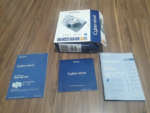 Caixa Com Manual E Cd Sony Cyber Shot Dsc-w70