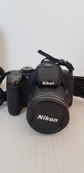 Câmera Nikon P520 Intacta Com Bateria Nova.