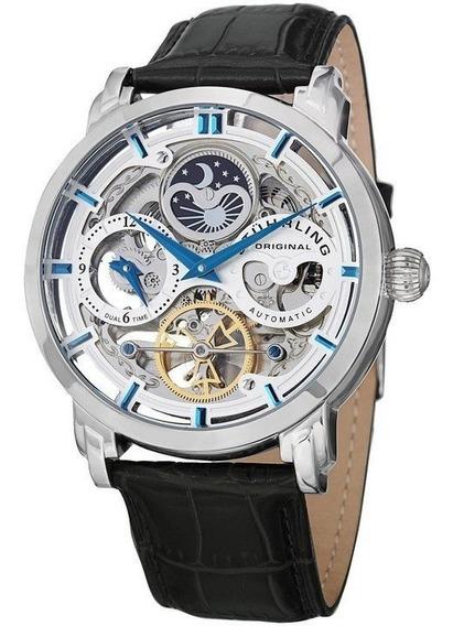 Reloj Hombre Legacy Automatic Pulsera Cuero Stuhrling