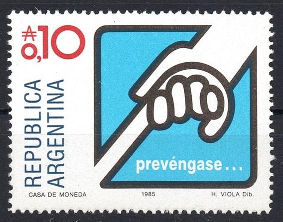 Argentina 1985 Gj 2266** Me 1559 Mint Prevención Ceguera A