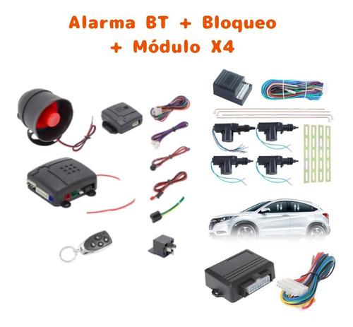 Imagen 1 de 4 de Combo Alarma Bt Bloqueo Módulo Elevavidios Automático X4