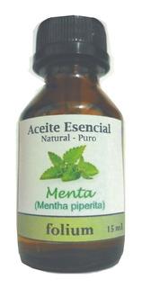 Aceite Esencial De Menta Piperita Natural Y Puro 15 Ml