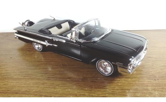 Miniatura*- Chevrolet Impala 1960 Conversível - Preto - 1/24