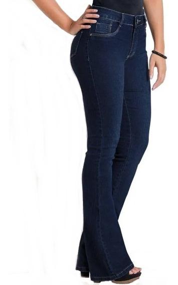 Calça Sawary Jeans Cintura Alta Flare Boot Cut Original