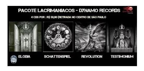 Combo Cds Lacrimosa -dynamo Records E Lacrimaniacos Envio