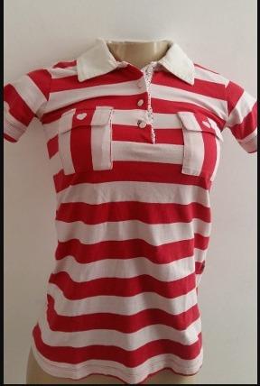 Blusa Blusinha Camiseta Listrada - P