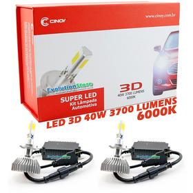 Par Lâmpada H4 Super Led 3d Xenon 6000k Na Caixa