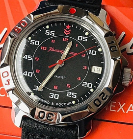 Relógio Militar Russo Vostok Komandirskie 811172 À Corda 30m