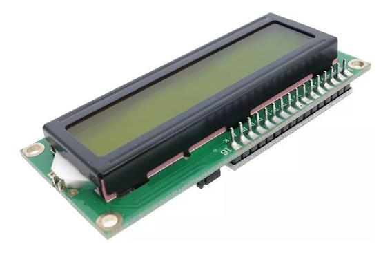 Display De Lcd 16x2 I2c Com Backlight Verde
