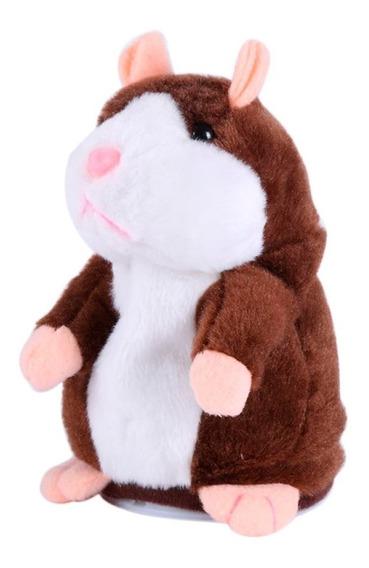 Pelúcia Hamster Falante Repete O Que Fala E Dança Temos Peek