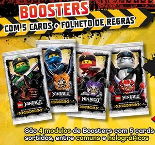 Lego® Ninjago Kit Com 4 Boosters Card Game Coleção 20 Cartas